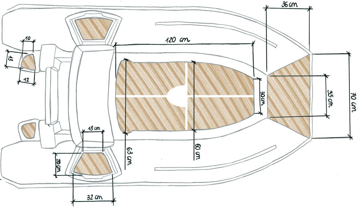 disegno gommone con cer-deck